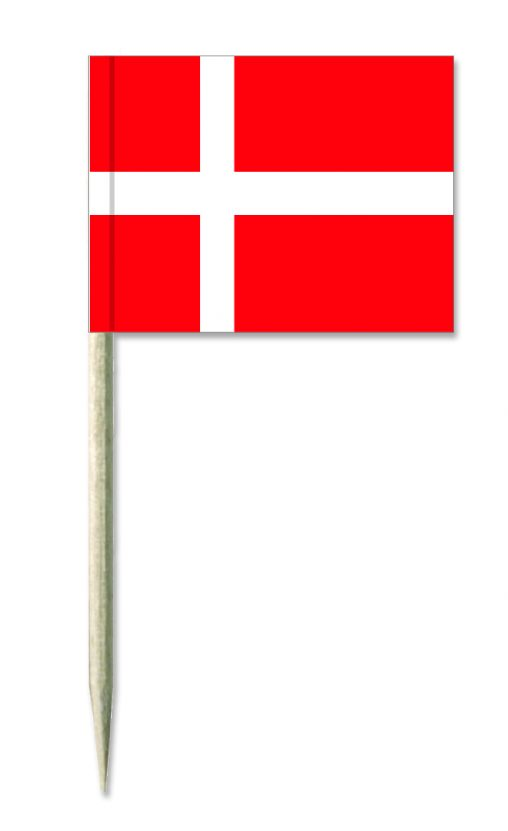 Dänemark Holz-picker oder Minifahnen und Käsepicker