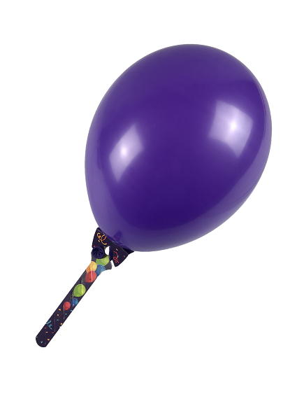Der Pappballonhalter, BalloonGrip®, balloon-grip Purple On Grip.