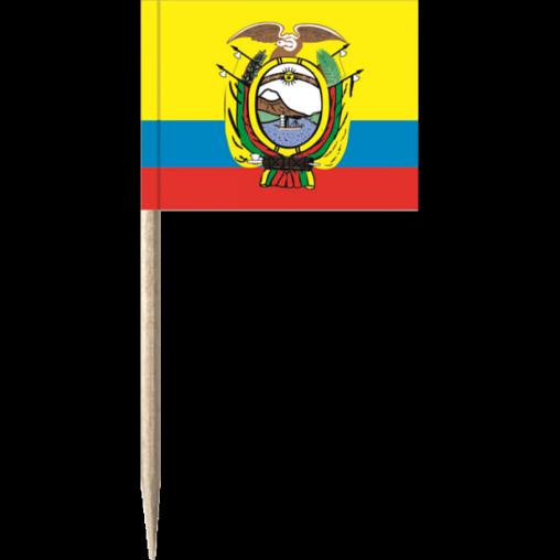 Ecuador Holz-picker oder Minifahnen und Käsepicker
