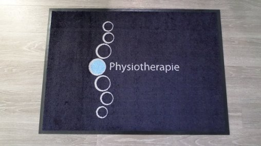 Fußmatten Physiotherapie, Schmutzfangmatten Physiotherapie, Physiotherapie, Matten Physiotherapie