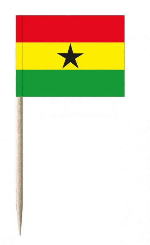 Ghana Minifähnchen oder Holzpicker und Käsepicker