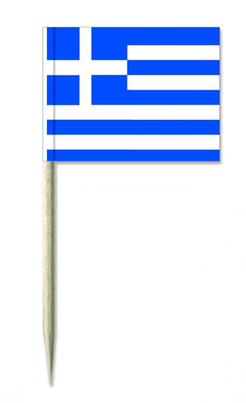 Griechen-land Minifähnchen oder Holzpicker und Käsepicker