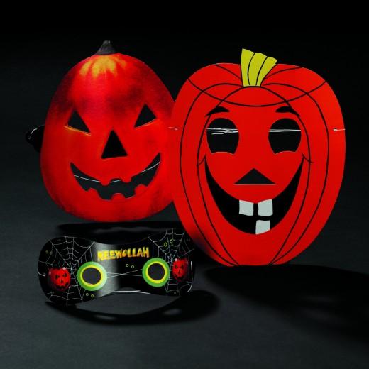 Halloween Pappmasken für kinder und Große