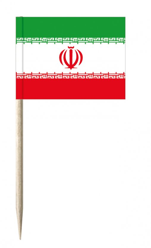 Iran Minifähnchen oder Holzpicker und Käsepicker