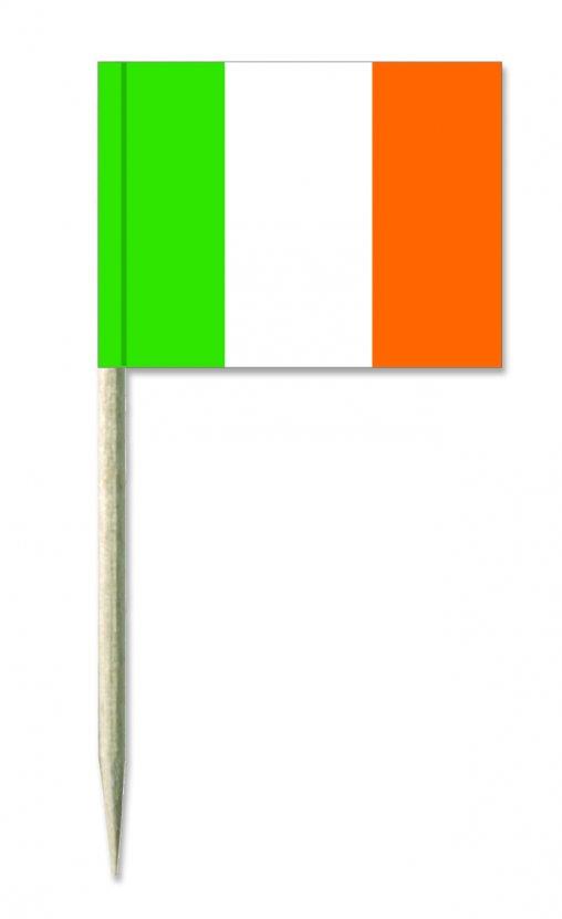 Irland Minifähnchen oder Holzpicker und Käsepicker