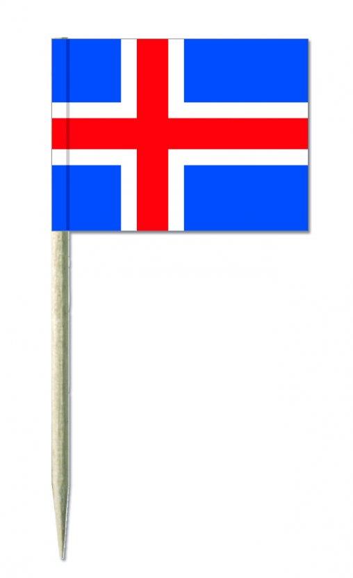 Island Minifähnchen oder Holzpicker und Käsepicker