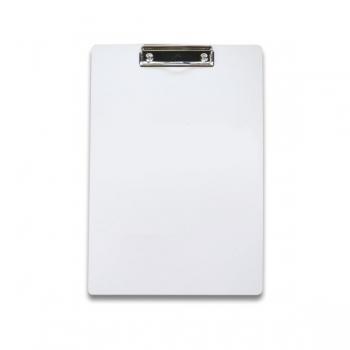 Klemmbrett aus Karton, weiß, DIN-A4, Klemmbrett weiss, Klemmbrett
