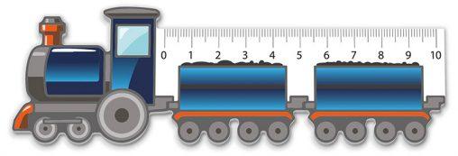 Lineal Lokomotive, Kundstoff Lineal, Lineal, Werbe Lineal,