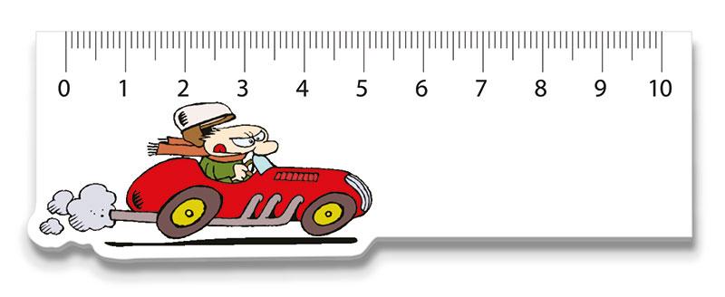 Lineal Rennwagen oder Werbeartikel lineal