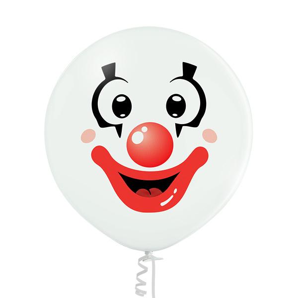Luftballons Clown - Gesicht, Ballons Clown - Gesicht, Luftballons, Ballons,