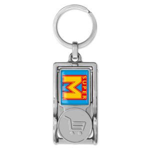 Multifunktionaler Schlüsselanhänger, Einkaufswagenchips, Schlüsselanhänger,