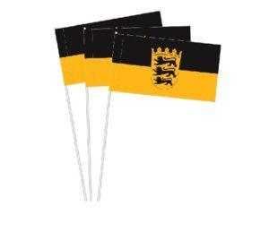 Papierfahnen Baden-Württemberg, Papierfähnchen Baden-Württemberg, Papierfahnen, Baden-Württemberg, Bundesländer Baden-Württemberg, Bundesländer, Papierfähnchen, Werbe Papierfähnchen, Werbe Papierfahnen, Werbung Werbemittel, Werbeartikel, Partyartikel,