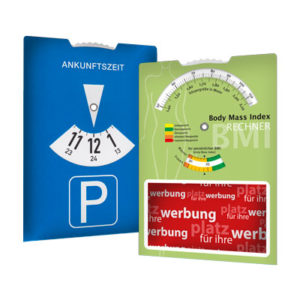 Parkscheibe mit Body Mass Index Parkscheibe Parkscheiben Parkscheibe Werbung Parkscheiben Werbung 1