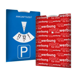 Parkscheibe mit voller Rueckseite fuer Ihre Werbung Parkscheibe Parkscheiben Parkscheibe Werbung Parkscheiben Werbung 1