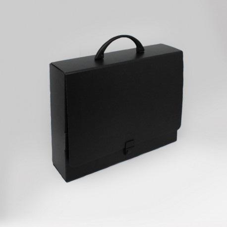 Prospektkoffer Schwarz, Prospektkoffer in tiefschwarz, Koffer Schwarz, Koffer in tiefschwarz, Koffer in tiefschwarz aus Karton, Prospektkoffer in tiefschwarz aus Karton, Prospektkoffer DIN-A4, Werbemittel, Werbung,