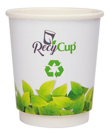 RecyCup, RecyCup Doppelwandig Becher, Doppelwandig Becher, Doppelwandig Pappbecher, Pappbecher, Werbe-Becher,