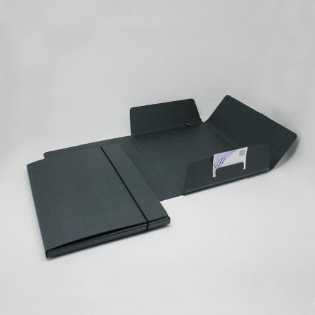 Sammelmappe aus Anthrazit-Karton, sammelmappe aus anthrazit-pappe ruckenbreite 15-cm