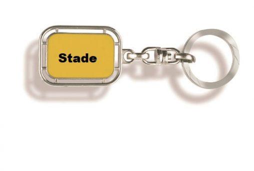 Schlüsselanhänger Stade, Schlüsselanhänger, Stade, Schlüsselanhänger Orts, Schlüsselanhänger Stadt, Schlüsselanhänger Ortsschild, Werbung, Werbemittel, Werbeartikel,
