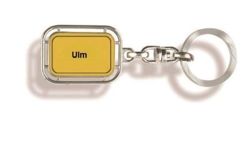 Schlüsselanhänger Ulm, Schlüsselanhänger, Ulm, Schlüsselanhänge Orts, Schlüsselanhänger Stadt, Stadt, Orts, Stadtschild, Ortsschild, Werbung, Werbemittel, Werbeartikel,