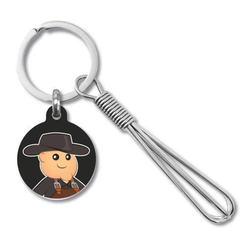 Schneebesen Schlüsselanhänger, Schlüsselanhänger Schneebesen, Schlüsselanhänger, Schneebesen, Werbe Schlüsselanhänger, Kunststoff-Plättchen, Werbeartikel, Werbemittel, Werbung,