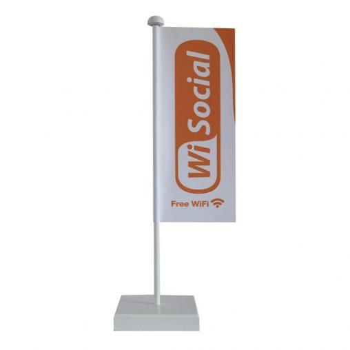 Tischbanner Acetaat, Tischbanner, Tischfahnen, Mini Beachflag, Fanwimpel, Tischwimpel, Werbung, Werbemittel, Werbeartikel, Minibeachflag,