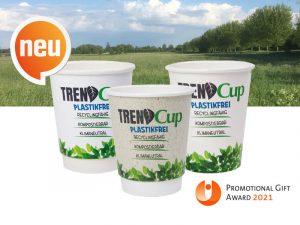 Trend Cup, Trend Cup Becher, Trinkbecher, Trend Cup Trinkbecher, Trendcup Trinkbecher, TrendCup-Neu, Trend Cup Becher, Trendcup Becher, Trend cup Becher, Pappe Becher, Werbeartikel, Werbemittel, Werbung