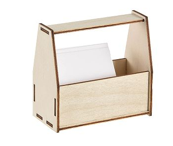 Utensilien box holz, Krims-Krams Utensilien-box