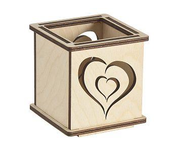 Windlichter Herz oder Windlicht Herz aus Birkensperrholz