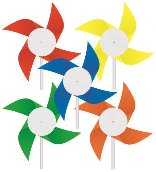 Windmühlen aus Kunststoff neutral, Windmuehlen neutral, windmühlen, Werbe-windmühlen,