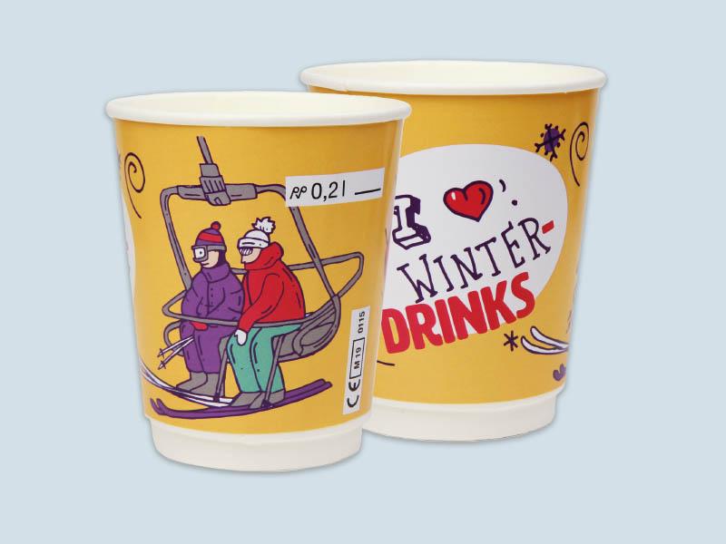 Winter Kombi-becher, Winter Kombi-becher mit Eichstrich, Winter-becher