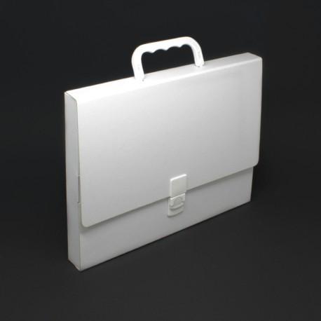 prospektkoffer aus karton in weiss din a4