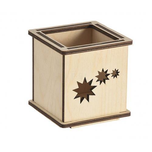 windlicht utensilienbox-stiftehalter stern, windlicht stern, Windlicht Stern aus Birkensperrholz, windlicht utensilienbox stiftehalter stern,